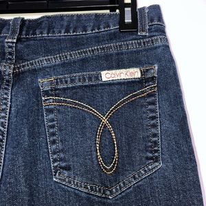 Calvin Klein Vintage Look Flare Cut Jeans Size 8